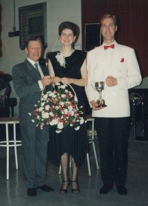 Clive and Jenny winning trophy at CCC