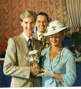 Clive winning trophy at Hampton TS